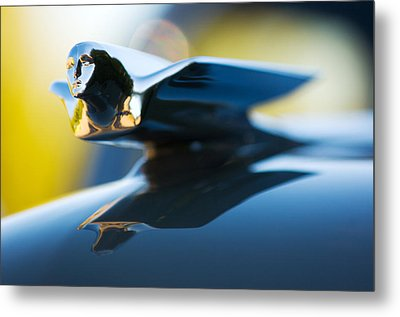 1947 Cadillac Model 62 Coupe Hood Ornament Metal Print by Jill Reger