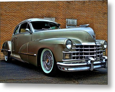 Metal Print featuring the photograph 1947 Cadillac Street Rod by Tim McCullough