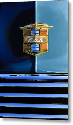 1947 Nash Surburban Hood Ornament Metal Print by Jill Reger