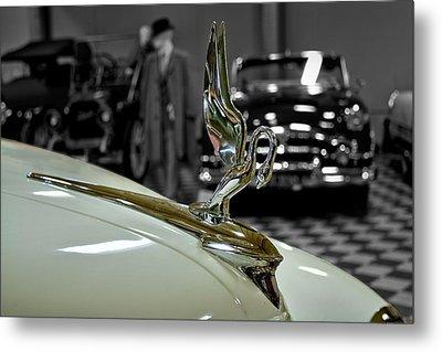 1947 Packard Hood Ornimate Metal Print