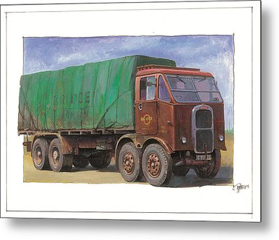 1947 Scammell R8 Metal Print by Mike  Jeffries
