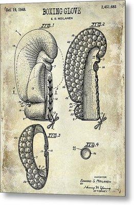 1948 Boxing Glove Patent Drawing Metal Print by Jon Neidert