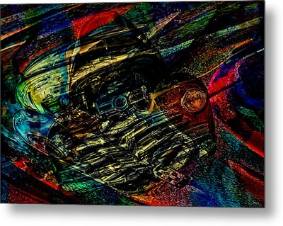 1948 Chevy Abstract Art Metal Print by Lesa Fine