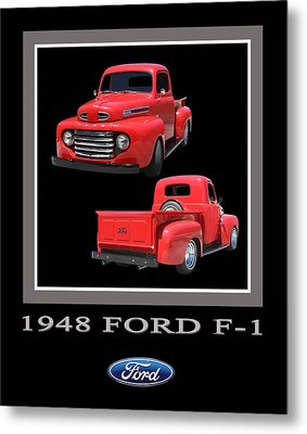 1948 Ford F 1 Poster Metal Print by Jack Pumphrey