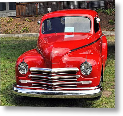 1948 Plymouth Coupe Metal Print by AJ  Schibig