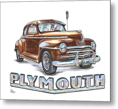 1948 Plymouth Metal Print by Shannon Watts
