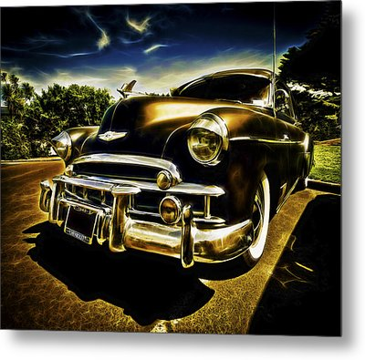 1949 Chevrolet Deluxe Coupe Metal Print by motography aka Phil Clark