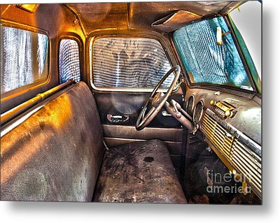 1949 Chevy Truck Cab Metal Print by D Wallace