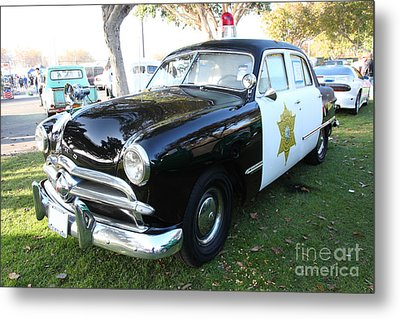 1949 Ford Police Car 5d26229 Metal Print by Wingsdomain Art and Photography