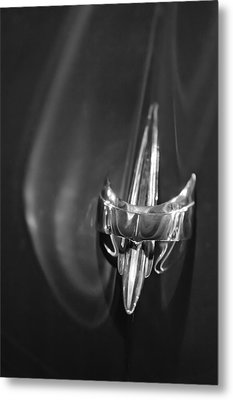 1949 Mercury Woody Wagon Hood Ornament 2 Metal Print