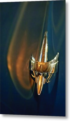 1949 Mercury Woody Wagon Hood Ornament Metal Print
