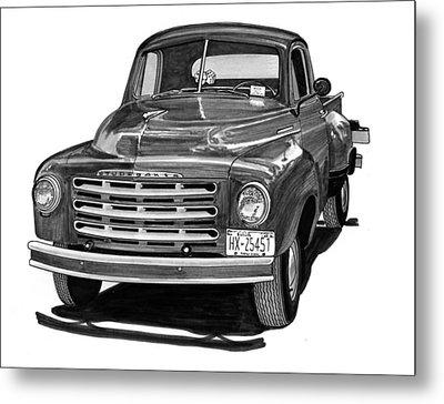 1949 Studebaker Pick Up Truck Metal Print by Jack Pumphrey
