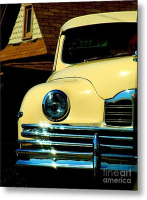 Metal Print featuring the photograph 1950 Yellow Packard by Janette Boyd
