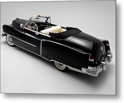 Metal Print featuring the photograph 1950 Black Cadillac Convertible by Gianfranco Weiss