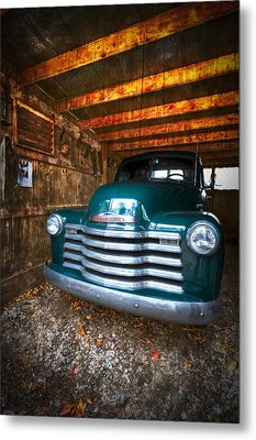 1950 Chevy Truck Metal Print by Debra and Dave Vanderlaan