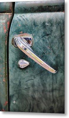 1950 Classic Chevy Pickup Door Handle Metal Print by Adam Romanowicz