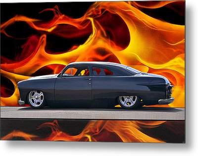 1950 Ford Custom Iv Metal Print by Dave Koontz