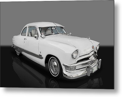 1950 Ford Custom V8 Metal Print