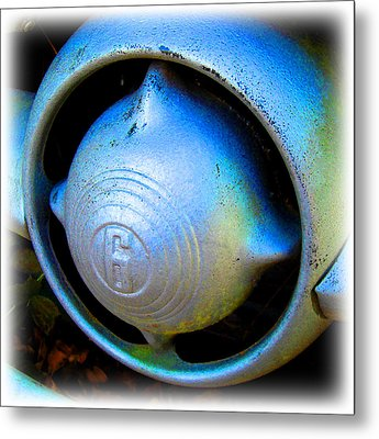 Metal Print featuring the digital art 1950 Ford Nose Bullet by K Scott Teeters