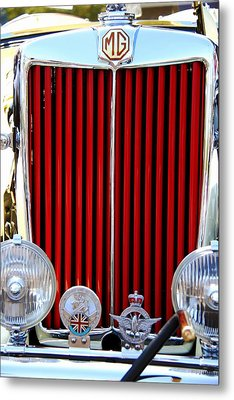 Classic Car Metal Print featuring the photograph 1950 Mg by Aaron Berg