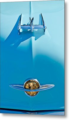 1950 Oldsmobile Hood Ornament Metal Print