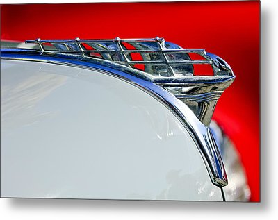 1950 Plymouth Hood Ornament 3 Metal Print
