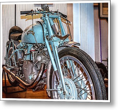 Metal Print featuring the photograph 1950 Vincent Tt Flash by Steve Benefiel