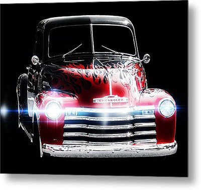 Classic Car Metal Print featuring the photograph 1950's Chevrolet Truck by Aaron Berg