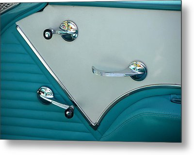 Metal Print featuring the photograph 1950's Chevy Interior by Dean Ferreira