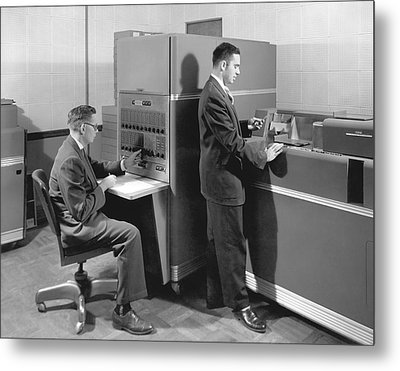 1950s Data Machines Metal Print by Underwood Archives