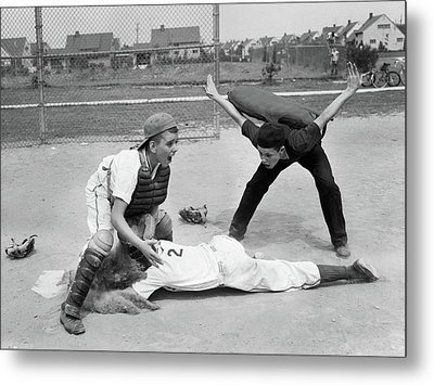 1950s Little League Umpire Calling Metal Print