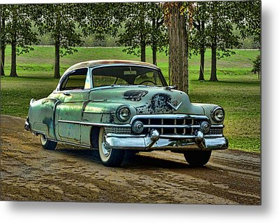 Metal Print featuring the photograph 1951 Cadillac by Tim McCullough