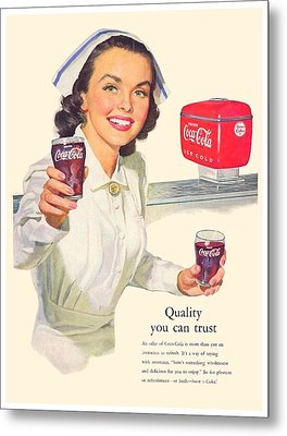 1952 - Coca-cola Advertisement - Color Metal Print