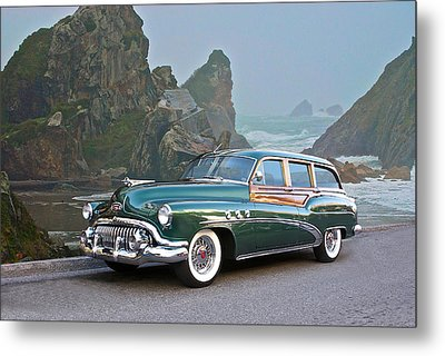 1952 Buick 'woody' Estate Wagon Metal Print by Dave Koontz