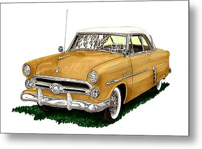 1952 Ford Victoria Metal Print by Jack Pumphrey