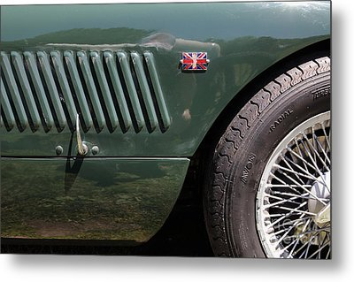 1952 Jaguar Xk120 Roadster 5d22972 Metal Print by Wingsdomain Art and Photography
