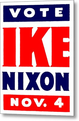 1952 Vote Ike And Nixon Metal Print by Historic Image