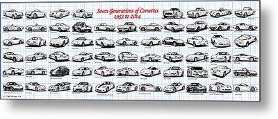 1953-2014-corvettes Metal Print by K Scott Teeters