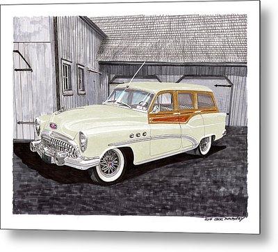 1953 Buick Estate Wagon Woody Metal Print