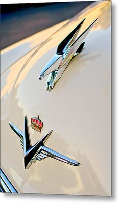 1953 Chrysler Imperial Custom Hood Ornament Metal Print