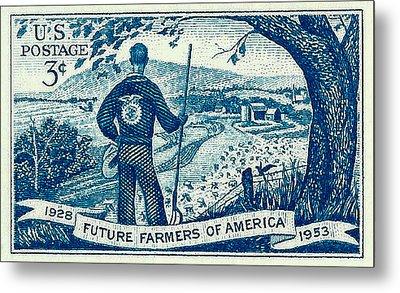 1953 Future Farmers Of America Postage Stamp Metal Print