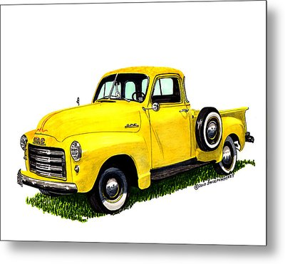 1953 G M C 5-window Pick-up Metal Print by Jack Pumphrey