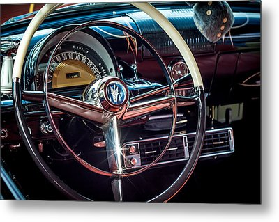 1953 Mercury Monterey Dashboard Metal Print by David Morefield