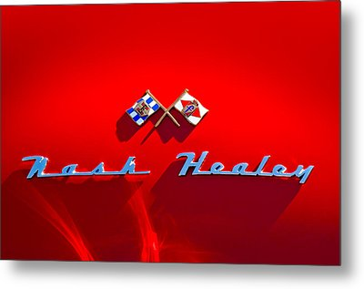 1953 Nash-healey Roadster Emblem Metal Print by Jill Reger