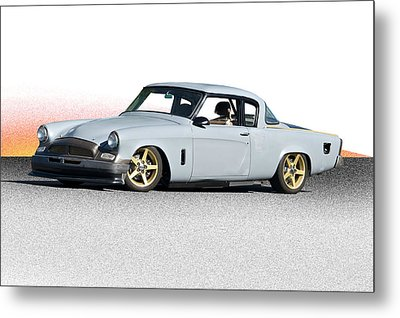 1953 Studebaker 'in Process Primer' Metal Print by Dave Koontz