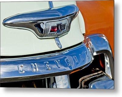 1954 Chevrolet Panel Truck Hood Emblem Metal Print by Jill Reger