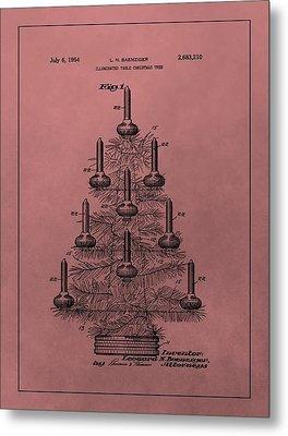 1954 Christmas Tree Patent Metal Print by Dan Sproul