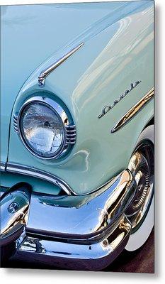 1954 Lincoln Capri Headlight Metal Print by Jill Reger