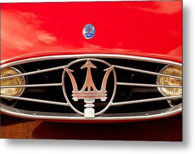1954 Maserati A6 Gcs Grille Emblem -0259c Metal Print by Jill Reger