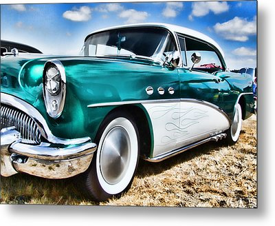 1955 Buick Metal Print by Ron Roberts